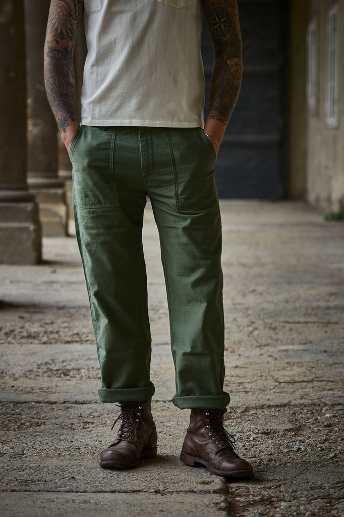 Japan Blue Jeans Modern Military Baker Pants Green