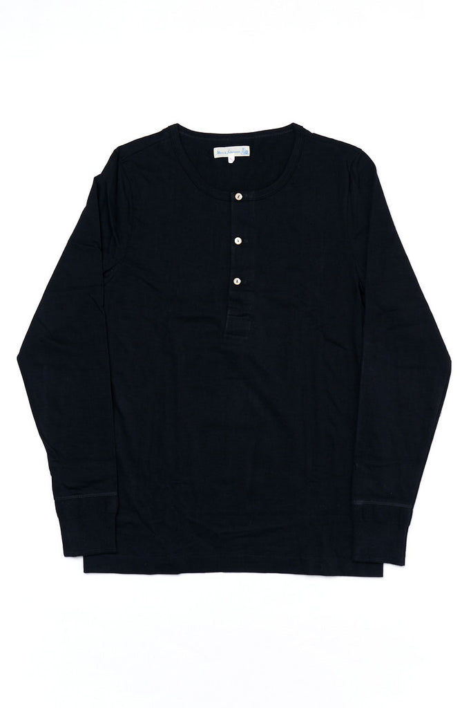 Merz b. Schwanen Good Originals Henley 206 Deep Black