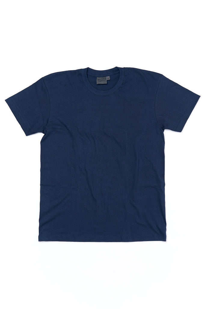 Naked and Famous Denim Circular Knit T-Shirt Navy
