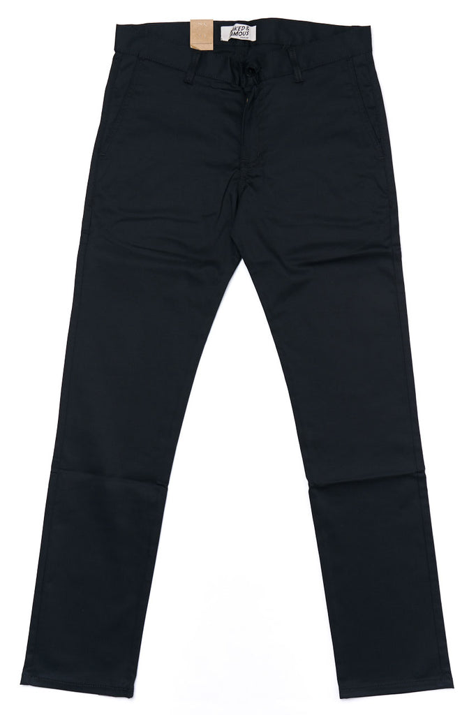 Naked and Famous Denim Slim Chino Stretch Twill Black