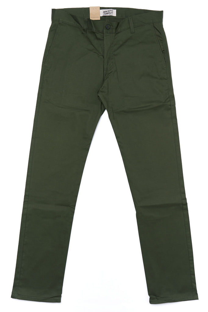 Naked and Famous Denim Slim Chino Stretch Twill Green