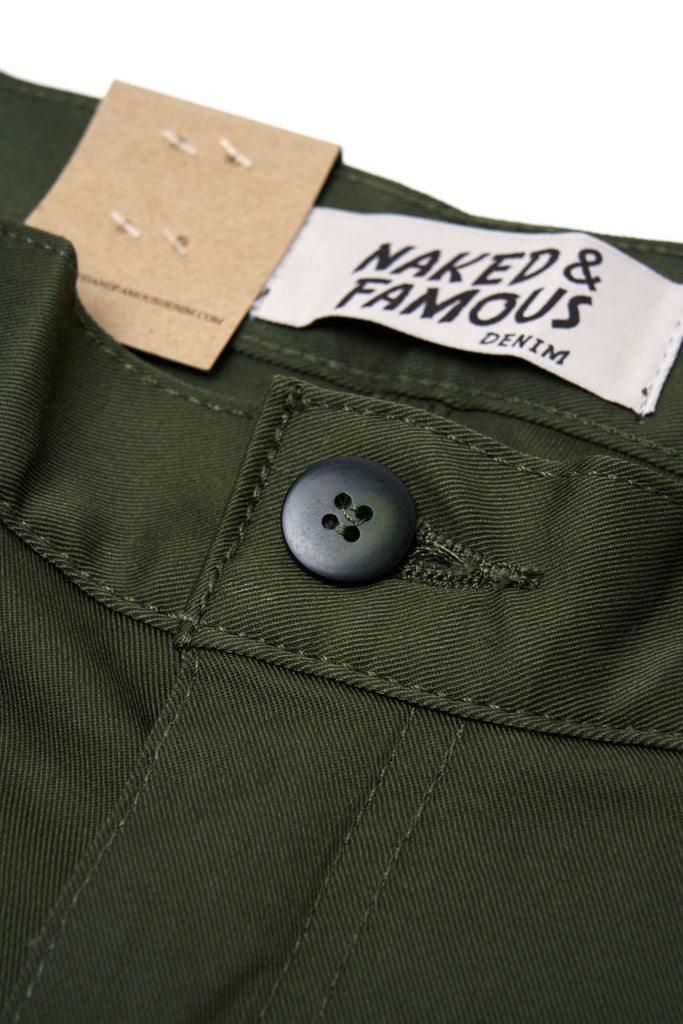 Naked & Famous Denim Slim Chino Stretch Twill Green