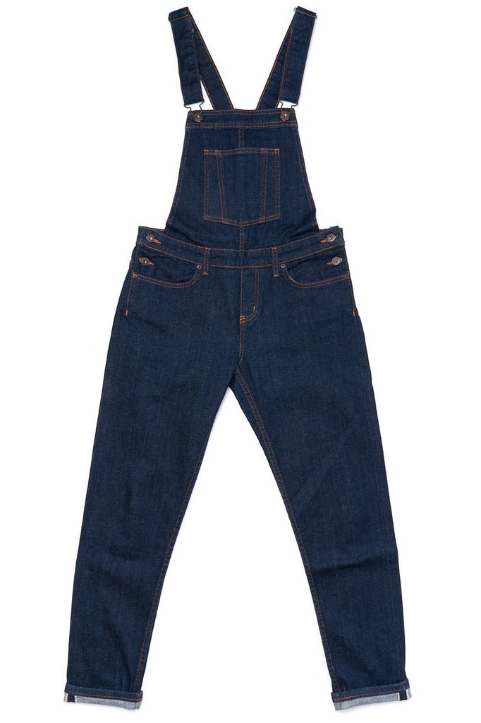 Naked and Famous Denim Womens Bib Overall 10oz Stretch Selvedge