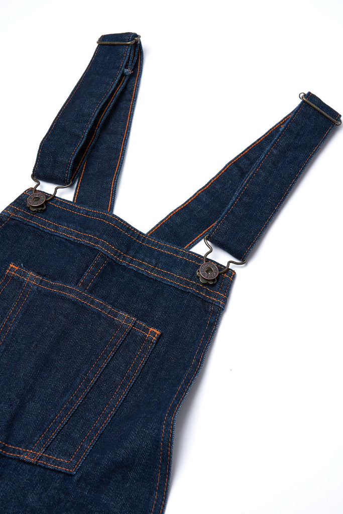 Naked & Famous Denim Women's Bib Overall 10oz Stretch Selvedge