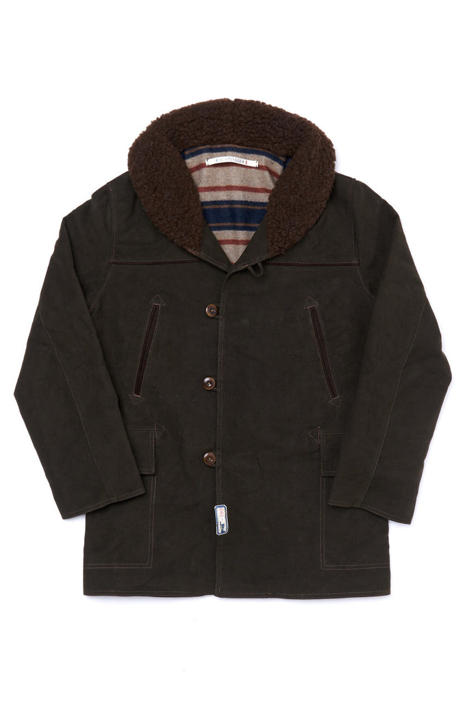 Scarti Lab Moleskin Shawl Collar Coat 709-SN960 Brown
