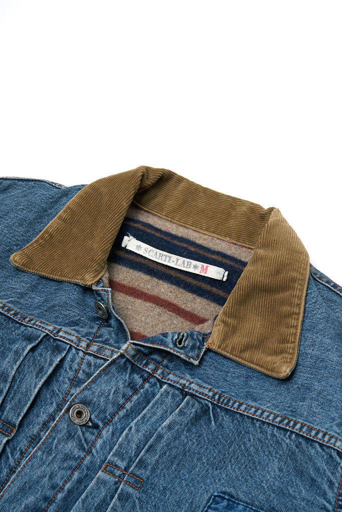 Scarti Lab Blanket Lined Denim Jacket 703F-ST820 B(N)B Collection