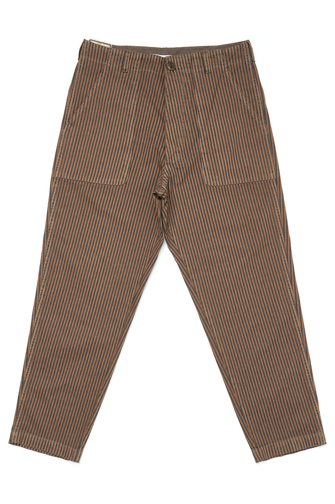 Scarti Lab Cargo Pants W908-SM225 Hickory Stripe Overdyed