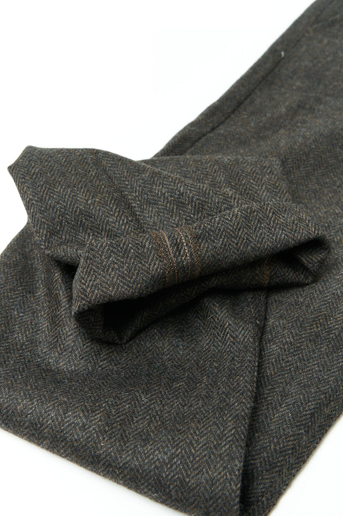 Scarti Lab Chinos 101-SE941 Herringbone Wool Dark Brown
