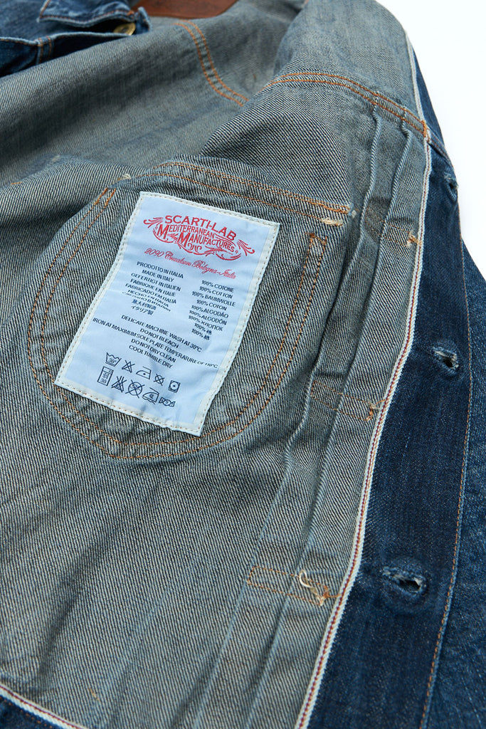 Scarti Lab Denim Jacket W200-ST820 Used Wash