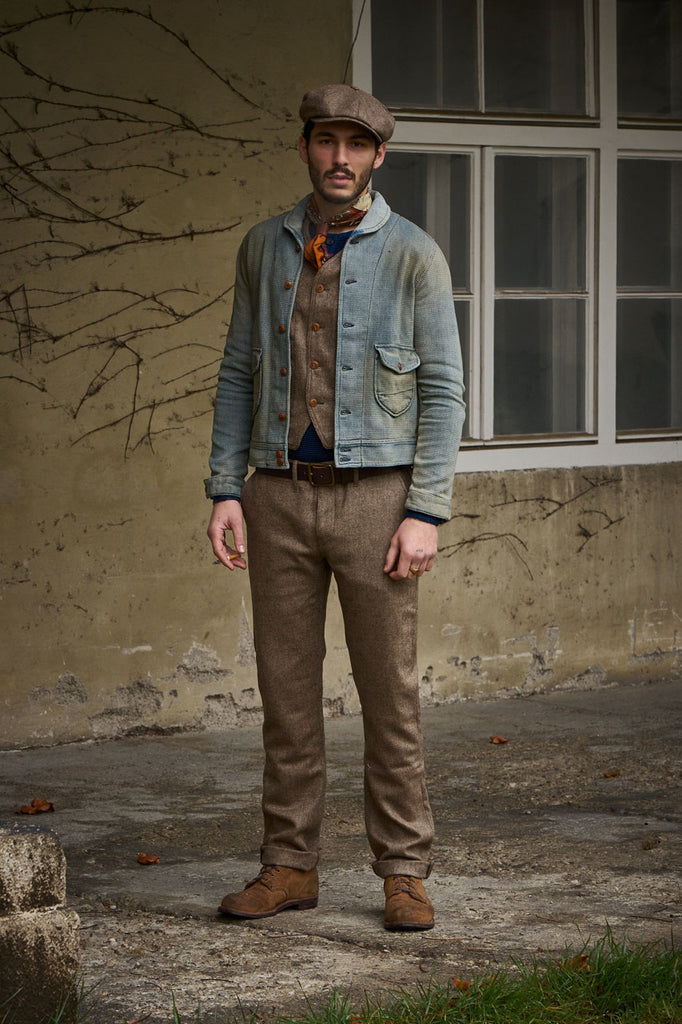Scarti Lab Dobby Jacket 707-SU928 Indigo Dirt Wash