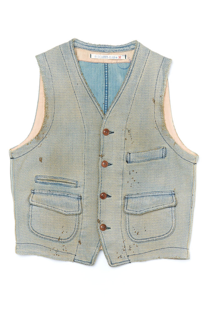Scarti Lab Dobby Waistcoat 403-SU928 Band Not Brand Collection
