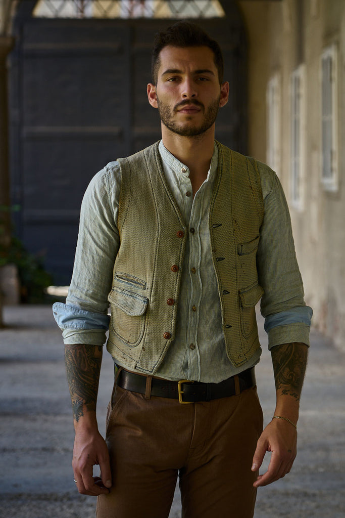 Scarti Lab Dobby Waistcoat 403-SU928 B(N)B Collection