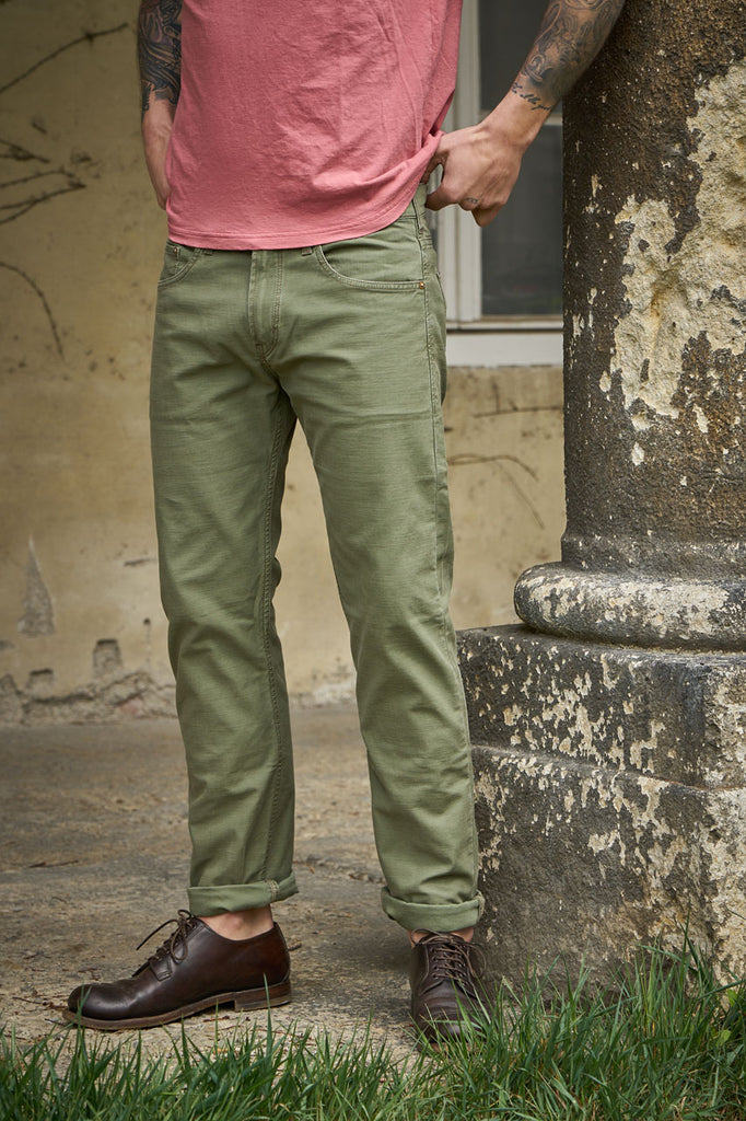 Scarti Lab 5-Pocket Pants 06RS-SG824 Satin Green