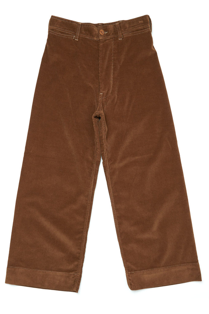 Scarti Lab High Waist Pants W900-SN959 Corduroy Brown
