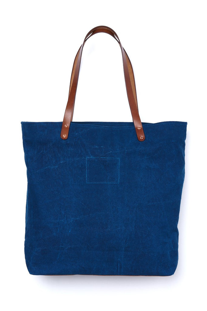 sunsetstar natural indigo shopper by blaudruck koo x maghanoy wilson x werkdorf