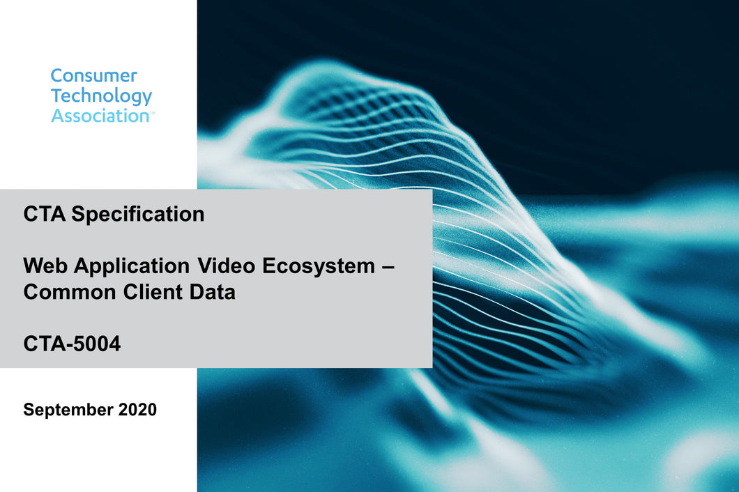 Web Application Video Ecosystem - Common Media Client Data (CTA-5004)