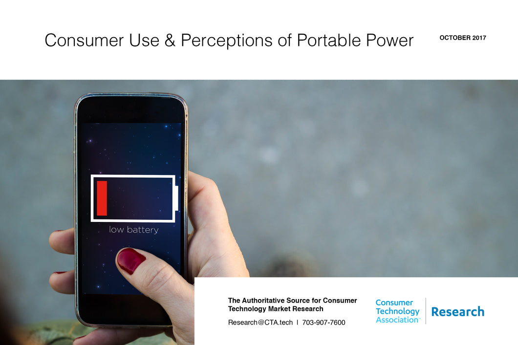 Consumer Use & Perceptions of Portable Power