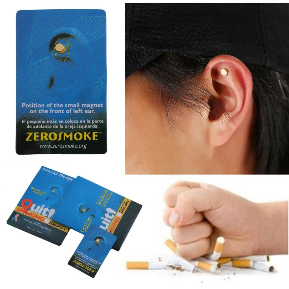 2Pc Health Care Magnet Quit Smoking Acupressure Patch NO Cigarette Health Therapy Stop Smoking Anti Smoke Patch Smokeless Smoker