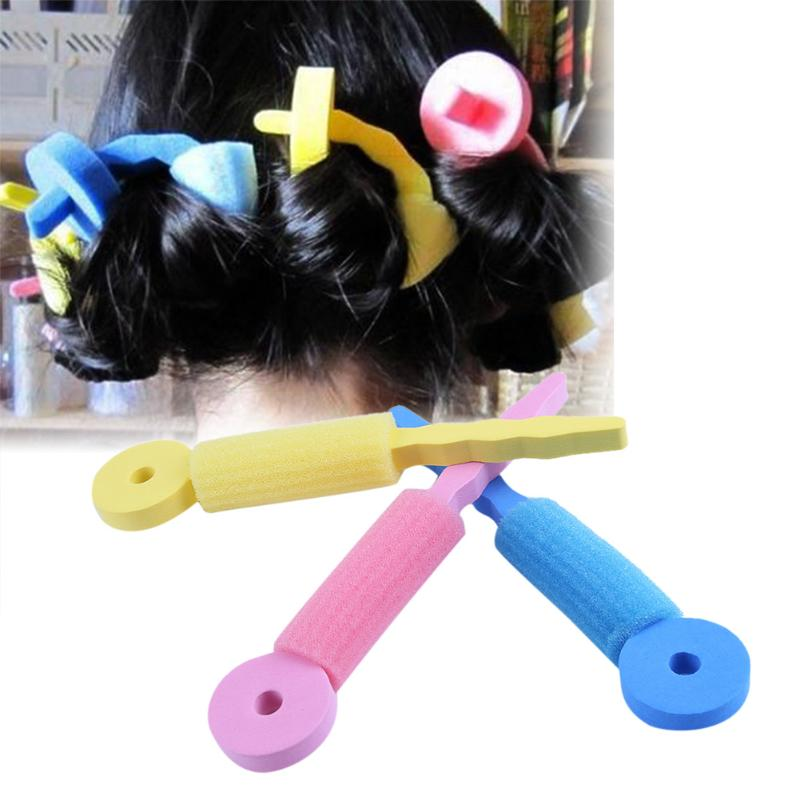 3pcs/set Soft Sponge Hair Rollers Curlers Foam Bendy Twist Curls Tool DIY Styling Hair Rollers Dropshipping