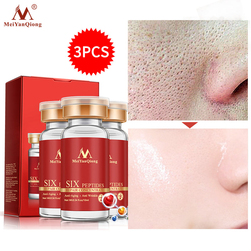 3pcs/lot Argireline Six Peptides Repair Face Serum Anti Wrinkle Skin Care Hyaluronic Acid Anti-aging Ageless Instantly Whitening