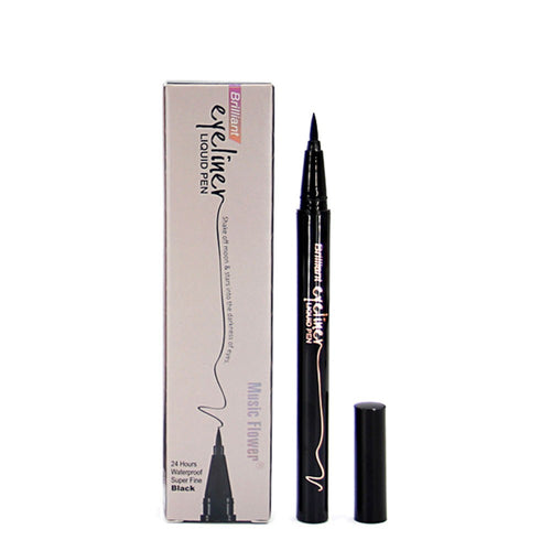 Womens Professional Fine Coloring Smoky Eye Makeup Liquid Eyeliner Black Eye Liner Pen Waterproof Natural Longlasting Deep Eyes Makeup Cosmetics