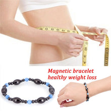 Load image into Gallery viewer, Multi-color Adjustable Weight Loss Round Black Stone Magnetic Therapy Bracelet Health Care Luxury Slimming Product