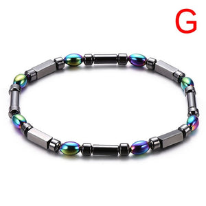 Multi-color Adjustable Weight Loss Round Black Stone Magnetic Therapy Bracelet Health Care Luxury Slimming Product