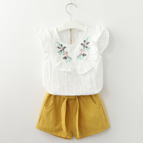 Floral Sleeveless Clothing Sets