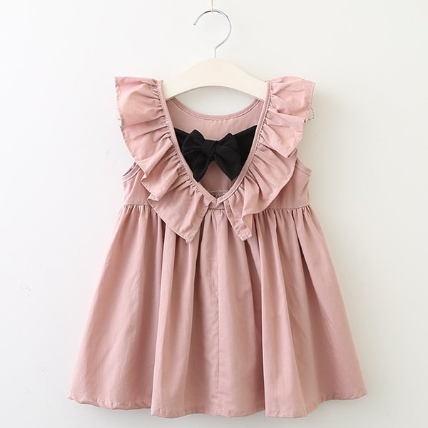 Salmon Pink Girls Dress