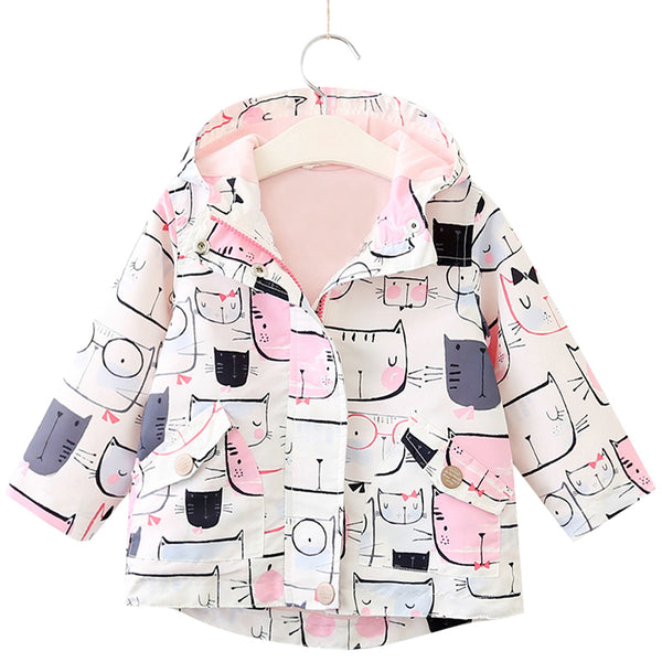 Cat Pattern Hooded Jackets