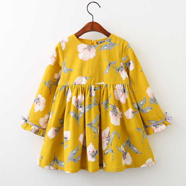 Long Sleeve Bow Princess Dress