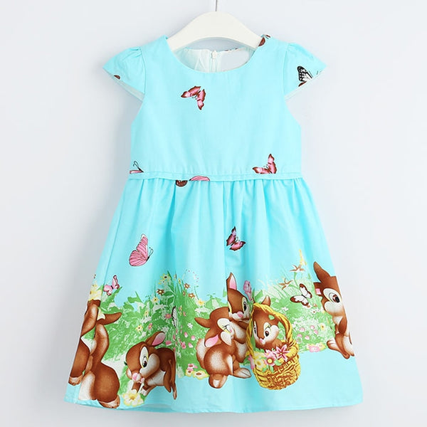 Cartoon Pattern Bow Dress