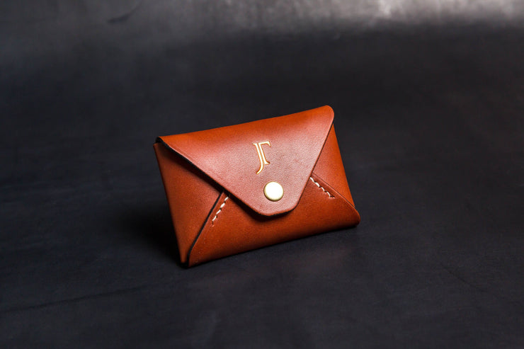 The Kenneth Envelope Card Wallet - Chestnut SAMPLES