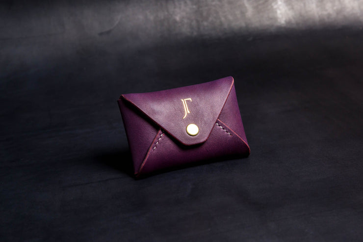 The Kenneth Envelope Card Wallet - Purple SAMPLES