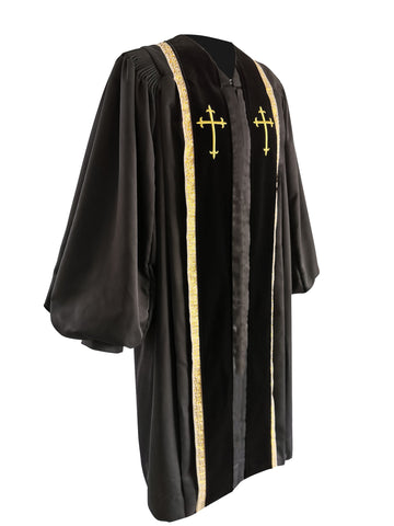 Black Bishop Clergy Robe