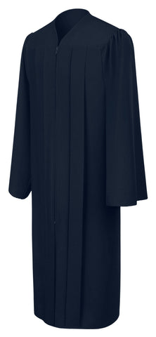 Matte Navy Blue Choir Robe - Church Choir Robes - ChoirBuy