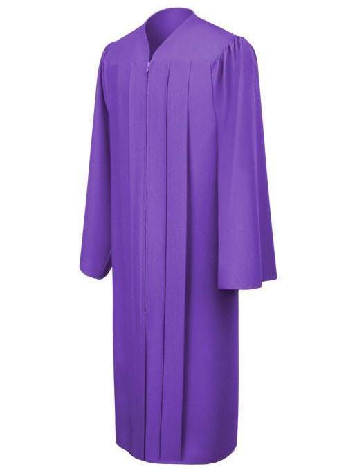 Matte Purple Choir Robe - Church Choir Robes - ChoirBuy