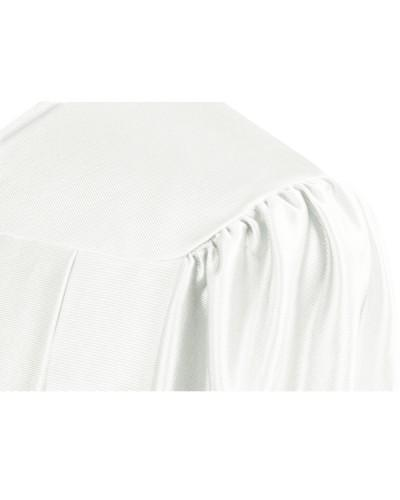 Shiny White Choir Robe - Church Choir Robes - ChoirBuy