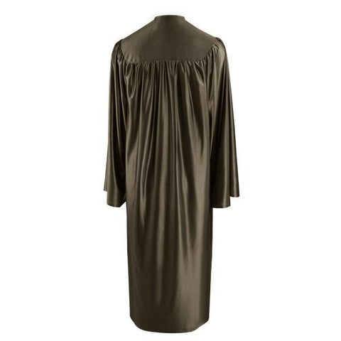 Shiny Brown Choir Robe - Church Choir Robes - ChoirBuy