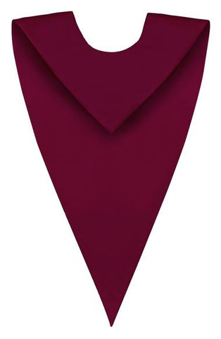 Maroon V-Neck Children Choir Stole