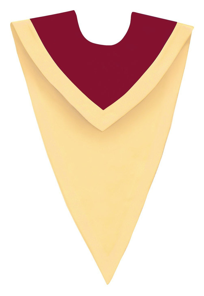 Maroon/Gold V-Neck Choir Stole - Church Choir Robes - ChoirBuy