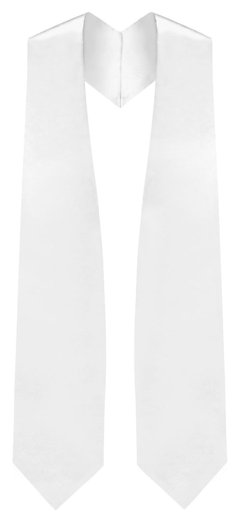 White Traditional Choir Stole - Church Choir Robes - ChoirBuy