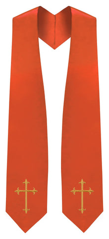 Orange Traditional Choir Stole - Church Choir Robes - ChoirBuy