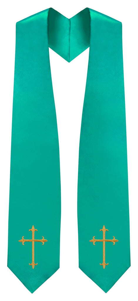Emerald Green Traditional Choir Stole - Church Choir Robes - ChoirBuy