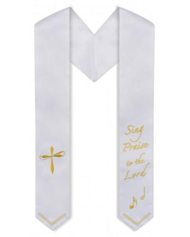 Sing Praise to the Lord Choir Stole - Church Choir Robes - ChoirBuy