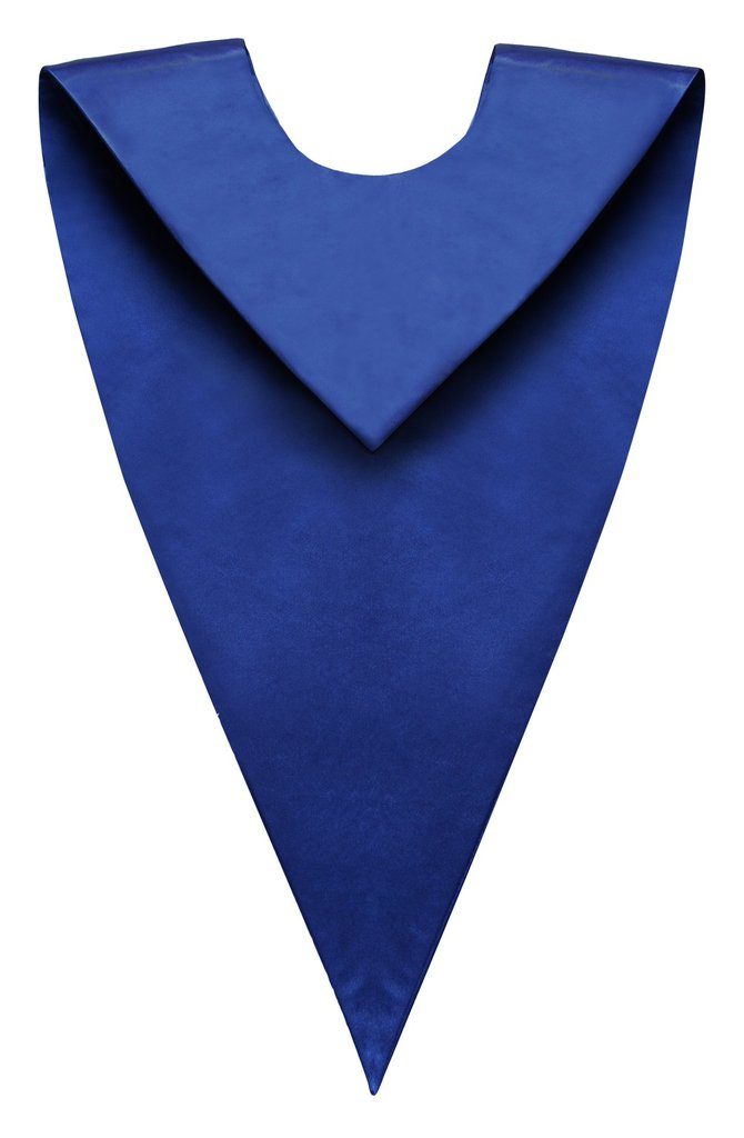 Royal Blue V-Neck Children Choir Stole