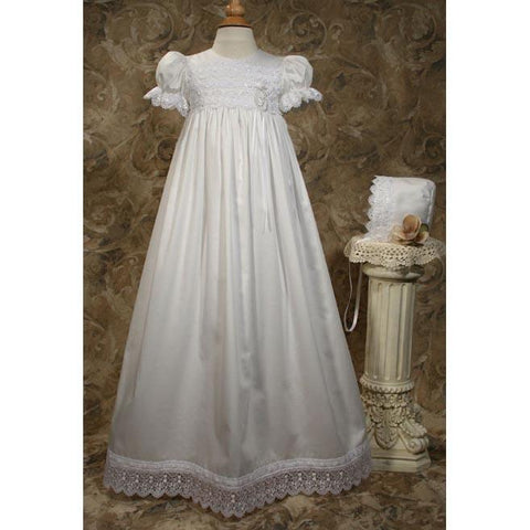 Sarina Cotton Sateen Baptism Gown