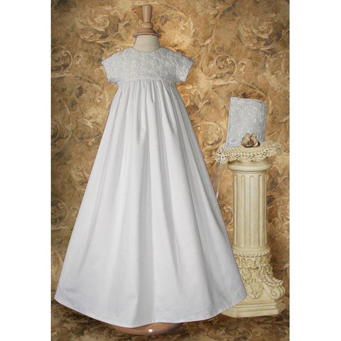Darcy Cotton Sateen Baptism Gown