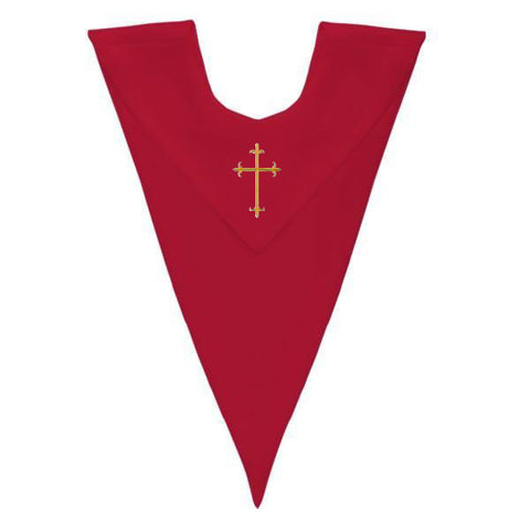 Red V-Neck Children Choir Stole