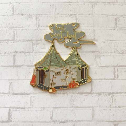 Hut Sweet Hut Enamel Pin